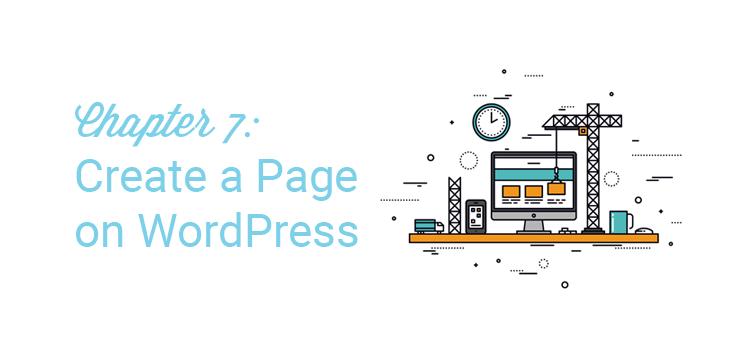 il capitolo 7 crea una pagina su wordpress