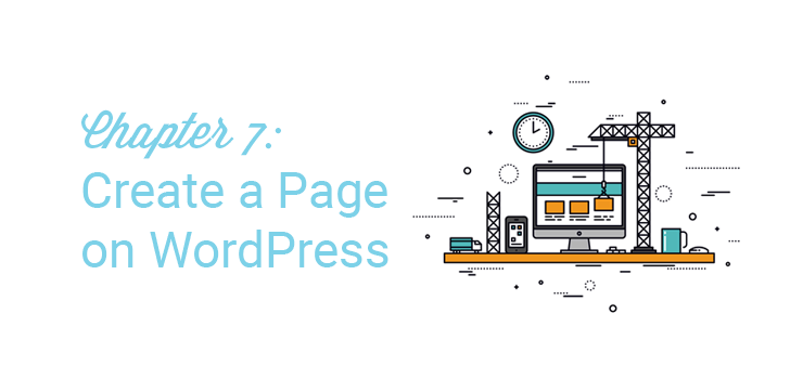chapter 7 create a page on wordpress