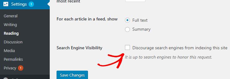 visibilità dei motori di ricerca