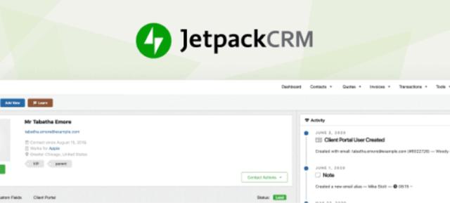 البرنامج المساعد Jetpack CRM