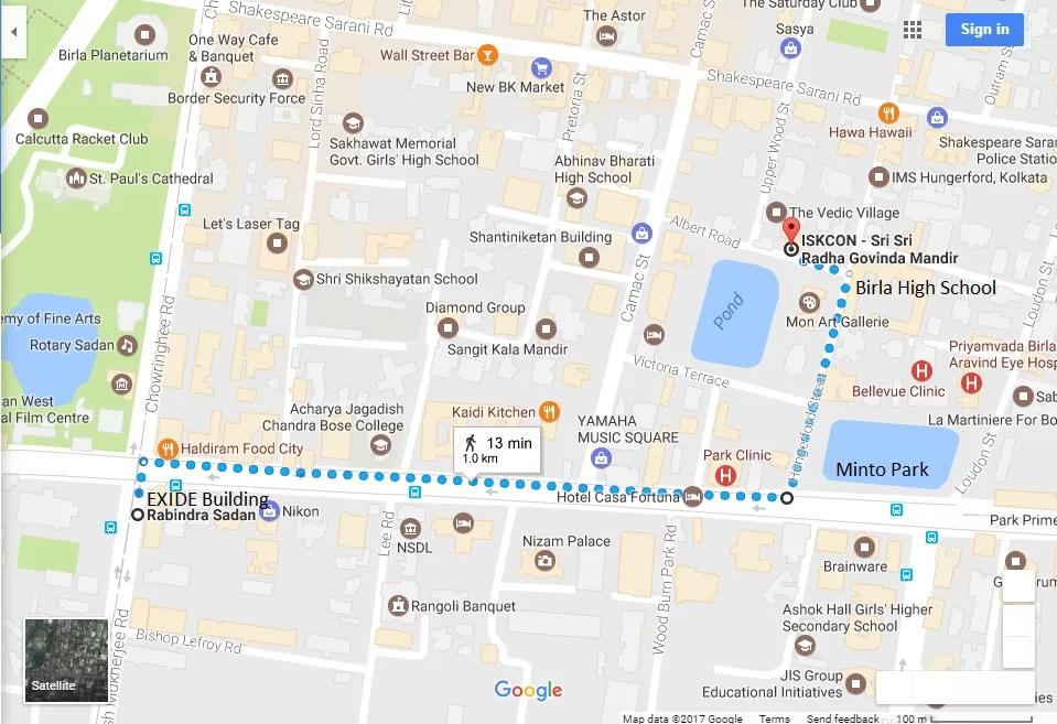 How to reach ISKCON Kolkata - ISKCON Kolkata