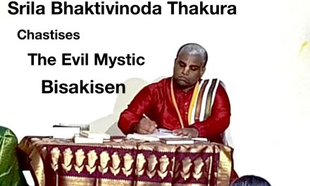 Drama Depicting —Bhaktivinoda Thakura Chastises The Evil Mystic Bisakisen