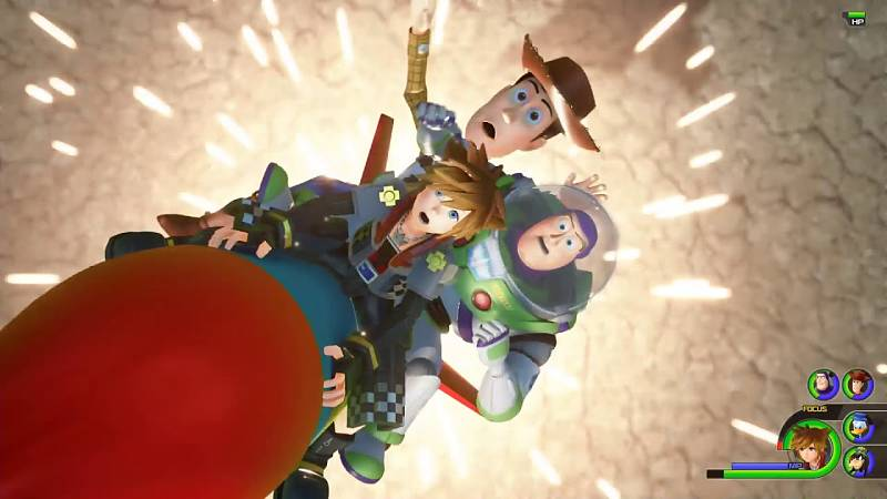 Kingdom Hearts 3 Toy Story Gameplay