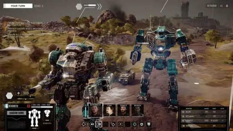 BattleTech publishes 1.10 update