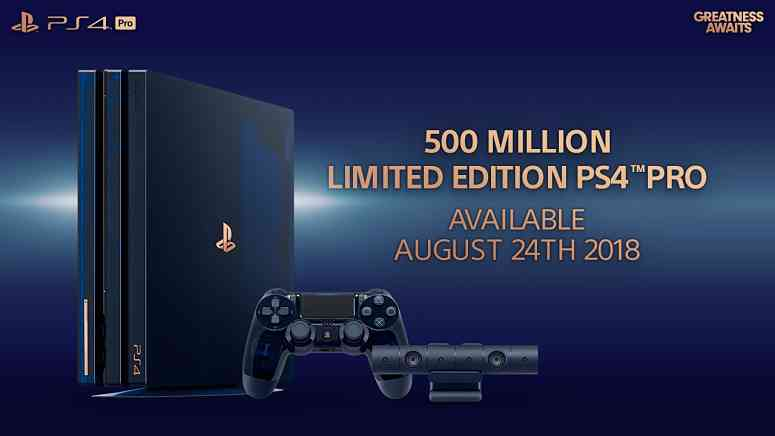 Sony launching unique PS4 Pro for 500 million consoles shipped