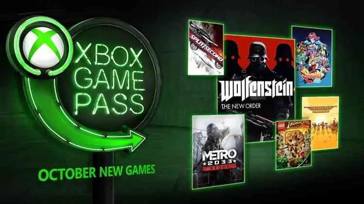 Xbox Game Pass October 2018