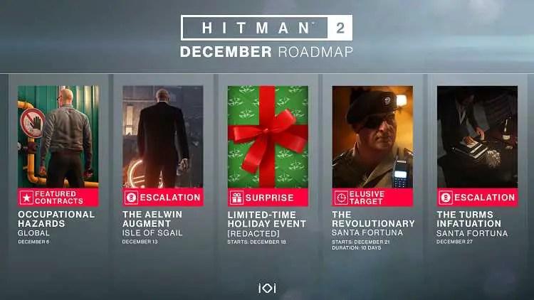 Hitman 2 December Content Roadmap