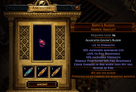 Path of Exile Blight Oils