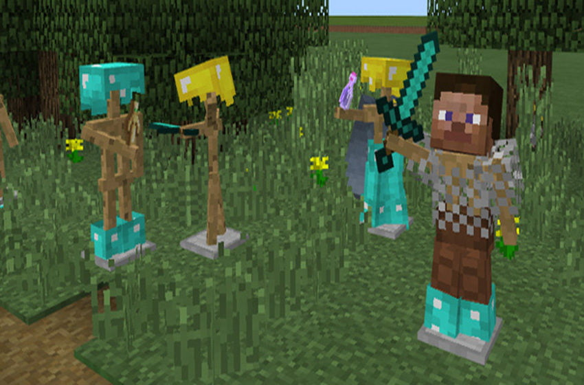 How to make an armor stand in Minecraft