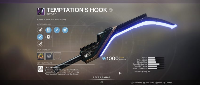 Temptation's Hook in Destiny 2