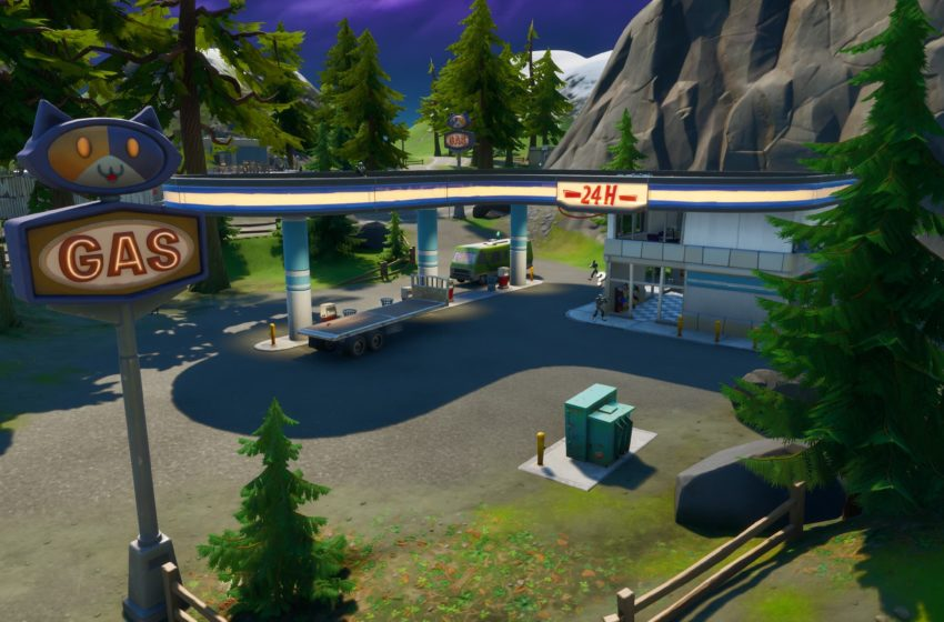 Where to gas up a car at Catty Corner in Fortnite Chapter 2 Season 3