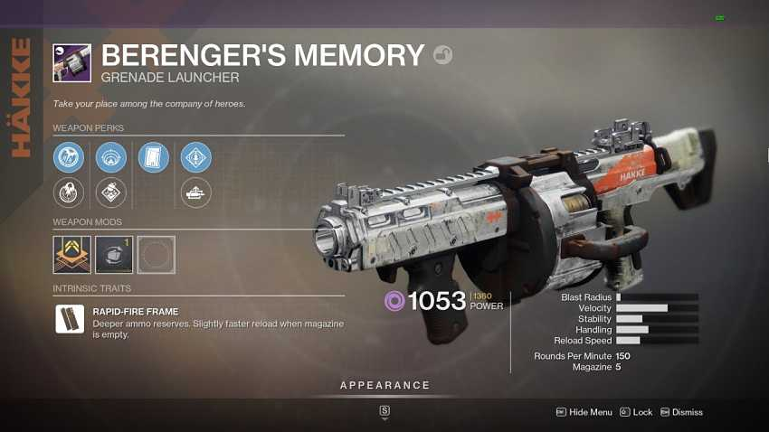 How to get Berenger's Memory in Destiny 2