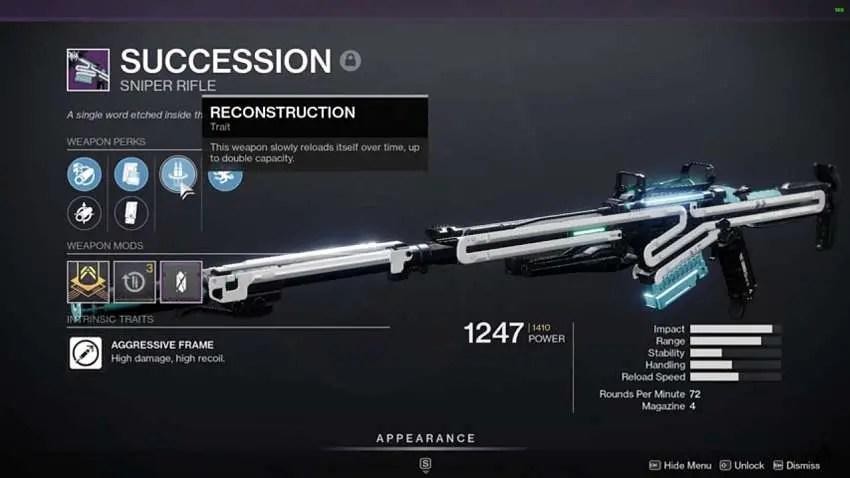 Succession Sniper Rifle in Destiny 2 Guide