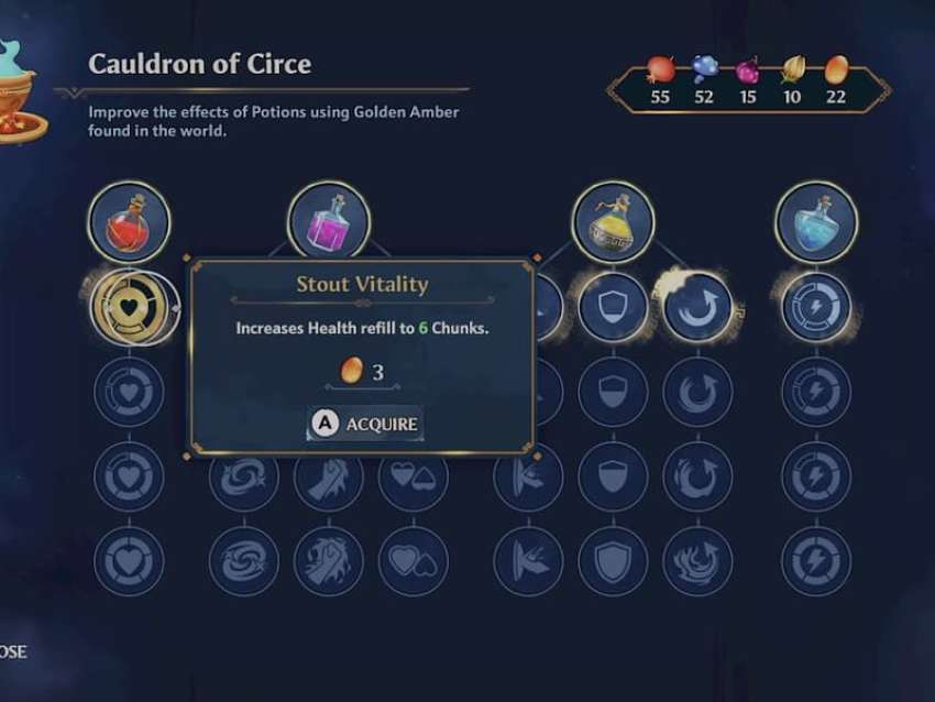 How to craft and upgrade your potions in Immortals Fenyx Rising