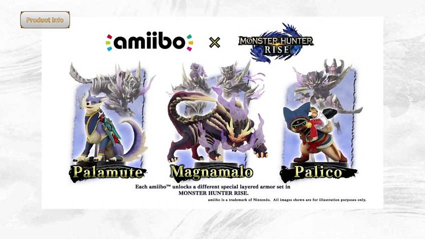 Here are the new Monster Hunter Rise amiibo
