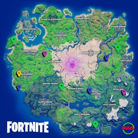 All XP Coin locations Fortnite Chapter 2 Season 5 Week 11
