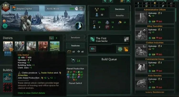 How to unlock building slots in Stellaris 3.0