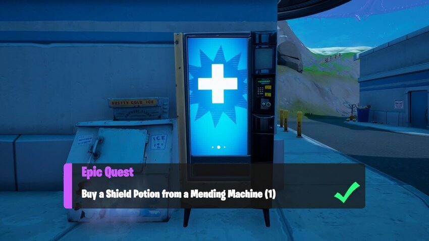 How to Buy a Shield Potion From a Mending Machine in Fortnite Chapter 2 Season 7