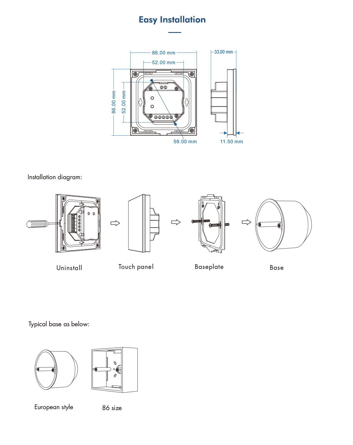 4 Zones Rgb Color Temperature Touch Panel Dmx Master 100