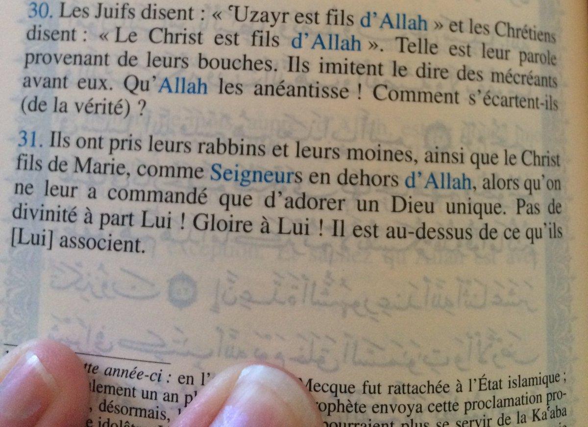"Qui parle ici ? Qui dit : ""Qu'Allah les anéantisse ! (Coran 9.30)"" ?"