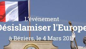 Désislamiser l'Europe ! Béziers le 4 mars !