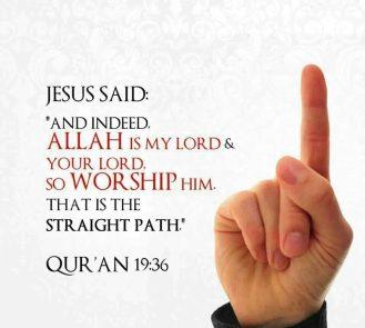 Jesus (pbuh) is not God.