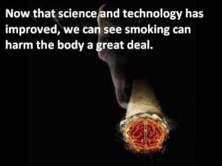 smoking and science