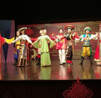 Chinese art troupe perform in Islamabad.