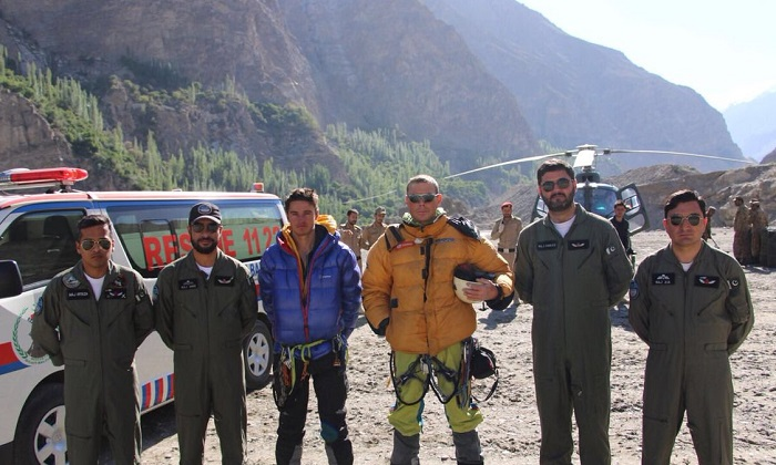 Austrian climber killed, two British mountaineers rescued by Pakistan Army