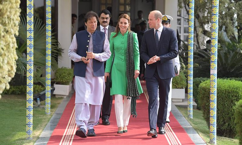 Prince William and Kate kick off Pakistan tour with school visit, meeting with PM Khan