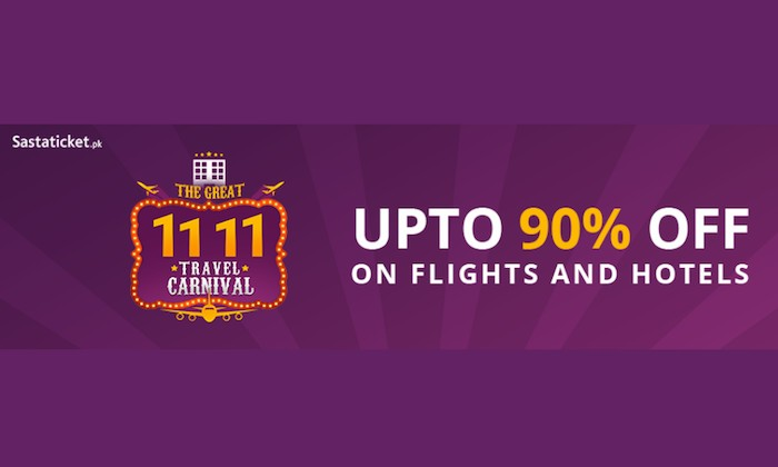 Sastaticket.pk launches Pakistan's biggest ever Travel Sale on 11.11