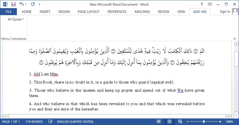 quran in word