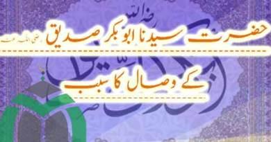 حضرت سیدنا ابوبکر صدیق رضی اللہ عنہ کے وصال کا سبب