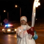 Photo of Abbas, the Olympic Torch-Bearer