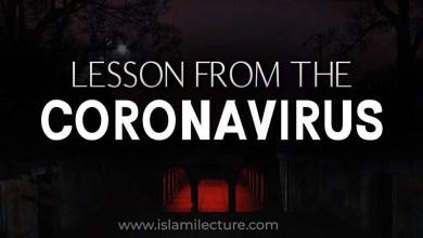 Lesson from the coronavirus