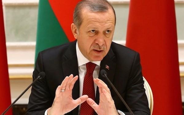 Presiden Turki, Reccep Tayyip Erdogan dalam pidatonya di Istanbul Turki   Foto:Reteurs