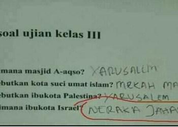 Viral! Ditanya Soal Ibukota Israel, Jawaban Siswa SD Ini Mengejutkan 1