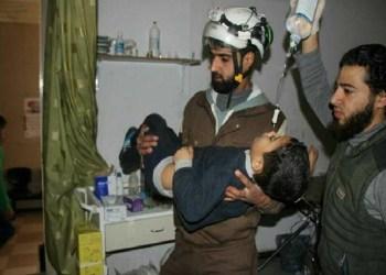 Anak korban serangan militer Rusia di Idlib. Foto: Zaman al-Wasl.