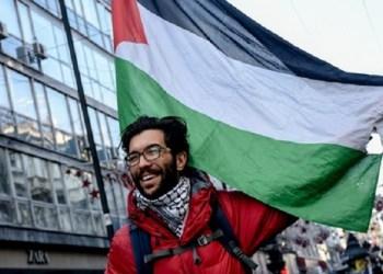 Aktivis Swedia pendukung Palestina, Benjamin Ladraa. Foto: Daily Sabah