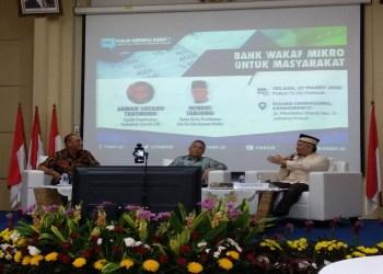 """Diskusi Media Forum Merdeka Barat (FMB) 9 bertajuk """"Bank Wakaf Mikro untuk Masyarakat"""", yang diselenggarakan di Ruang Serba Guna Kementerian Komunikasi dan Informatika, Jakarta, Selasa (27/03/2018). Foto: Tommy/Islampos."""