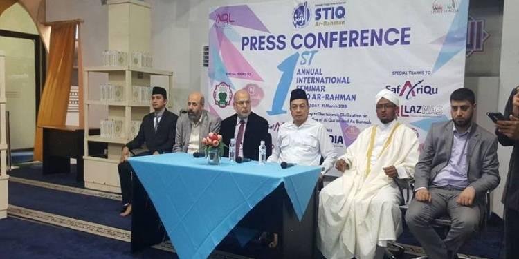 First Annual International 2018 yang digelar oleh Sekolah Tinggi Ilmu Al Qur'an (STIQ) Ar-Rahman di AQL Center Jalan Tebet Utara Jakarta Selatan, Rabu (21/3). Foto: Rhio/Islampos.