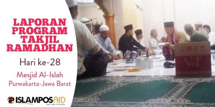 Takjil ke-28 IslamposAid Diberikan di Masjid Al-Islah, Purwakarta-Jawa Barat  1