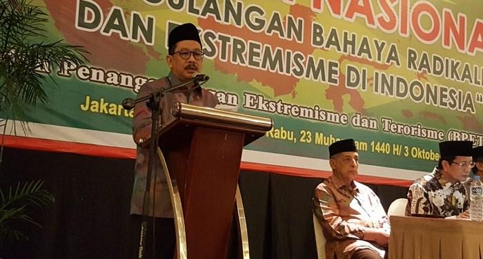 Ketua Badan Penanggulangan Ekstremisme dan Terorisme (BPRET) Majelis Ulama Indonesia (MUI) Zainut Tauhid Sa'adi. Foto: Rhio/Islampos
