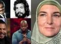 Searah jarum jam: Omar Sharrif, Cat Stevens, Sinead O'Connor, Dave Chapelle, Ice Cube. Foto: Google Image