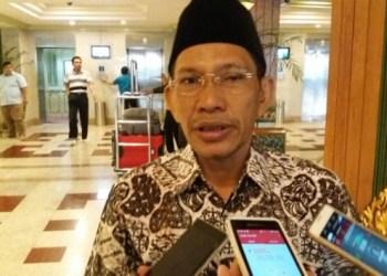 Ketua Pengurus Besar Nahdatul Ulama, Robikin Emhas saat menjawab pertanyaan di Hotel Kartika Chandra, Jakarta Pusat, Jumat, 14 Juli 2017. TEMPO/Irsyan