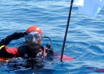 Syachrul Anto, seorang penyelam dari Indonesian Diver Rescue Team. Foto: FB Syachrul Anto