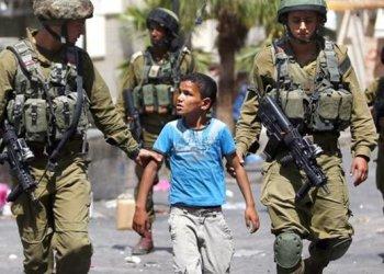 Anak Gaza ditangkap tentara Israel. Sumber: PIC