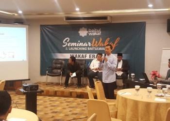 Lembaga Zakat Nasional Baitul Mal Hidayatullah (LAZNAS BMH) menggelar seminar wakaf 4.0. Foto: Rhio/Islampos