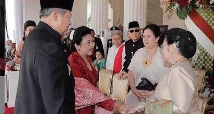 SBY dan istri bertemu Megawati. Foto: Tribunnews