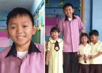 Ian Manga, guru yang punya wajah seperti anak-anak. Foto: Deirel News